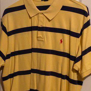 Blue & Yellow Ralph Lauren Polo (Red horse)